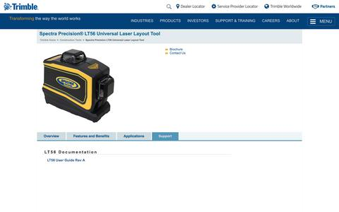 Trimble - Building Construction - Spectra Precision LT56 Universal Laser Layout Tool