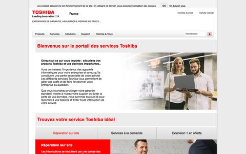 Screenshot of Services Page toshiba.fr - Portail des Services - Toshiba - captured July 17, 2017