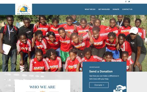 Screenshot of Home Page haitilumiere.org - Haiti Lumiere de Demain | Haiti Lumiere de Demain - captured July 6, 2017