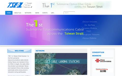 Screenshot of Home Page tse-1.com - TSE-1 Submarine Cable System - Home - captured Sept. 25, 2015