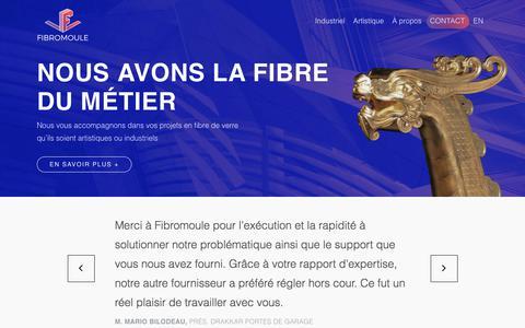 Screenshot of Home Page fibromoule.com - Spécialiste en fibre de verre | Fibromoule - captured June 5, 2017