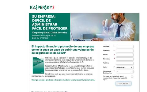 Screenshot of Landing Page kaspersky.com captured Oct. 19, 2016