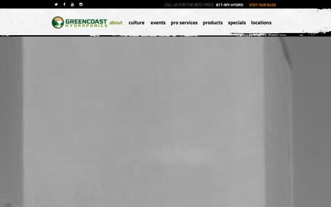 Screenshot of Team Page gchydro.com - People - GreenCoast Hydroponics - captured Jan. 22, 2016