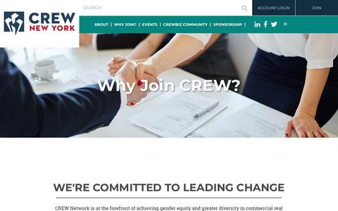 Screenshot of Signup Page crewny.org - CREW New York - Why Join? - captured July 2, 2018