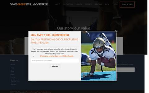 Screenshot of Login Page wegotplayers.com - Log In - captured Jan. 10, 2016