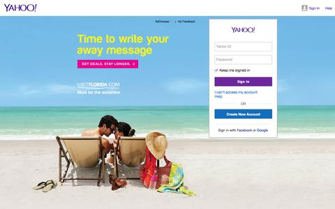 Screenshot of Login Page yahoo.com - Sign in to Yahoo - captured Oct. 10, 2014