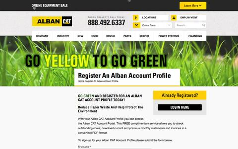 Screenshot of Signup Page albancat.com - Register An Alban Account Profile - Alban Cat - captured Dec. 24, 2015