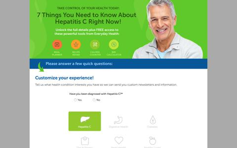 Screenshot of Landing Page everydayhealth.com - Everyday Health | 7 Things You Need to Know About Hep C - captured Sept. 28, 2017