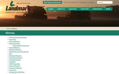 Screenshot of Site Map Page landmark.coop - Sitemap | Landmark Services Cooperative - captured Sept. 27, 2018