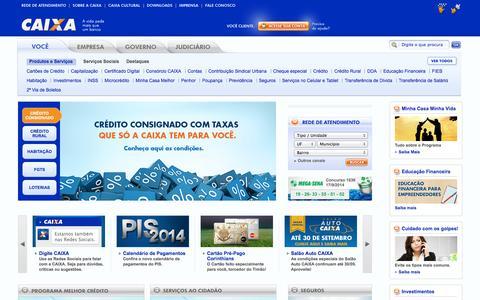 Screenshot of Home Page caixa.gov.br - Caixa Econômica Federal - captured Sept. 19, 2014