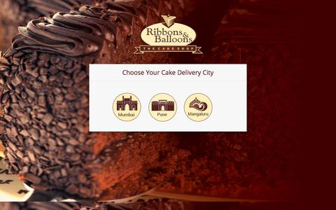Screenshot of Home Page ribbonsandballoons.com - Online Cake Delivery in Mumbai At Ribbons and Balloons - captured Sept. 25, 2018