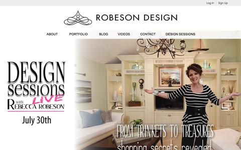 Screenshot of Signup Page robesondesign.com - Sign up for Design Sessions - captured Aug. 14, 2016
