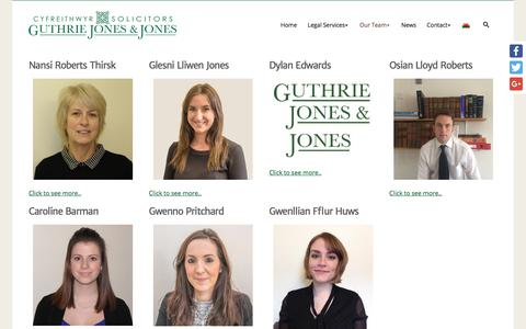 Screenshot of Team Page guthriejj.co.uk - Meet The Team - Solicitors North Wales and Denbigh, Dolgellau, Bala and Harlech - captured Sept. 24, 2017
