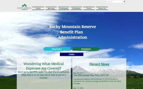 Screenshot of Home Page rockymountainreserve.com - Rocky Mountain Reserve - Home - captured June 15, 2017