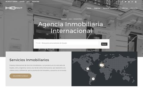 Screenshot of Home Page hqrealty.com - HQ REALTY | Agencia Inmobiliaria Internacional - captured May 12, 2017
