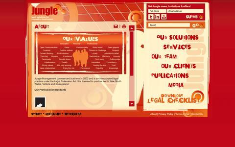 Screenshot of About Page jungle.com.au - Jungle - About - captured Oct. 6, 2014