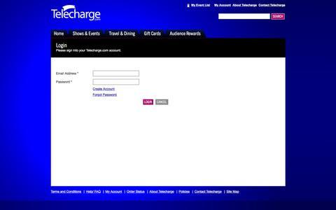 Screenshot of Login Page telecharge.com - Login - captured Dec. 24, 2016
