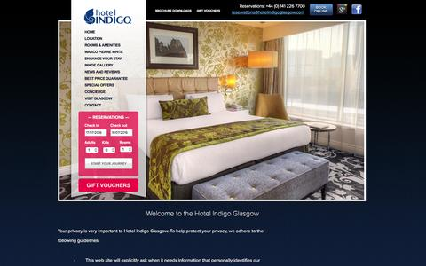 Screenshot of Privacy Page hotelindigoglasgow.com - Boutique hotels in Glasgow | Glasgow city centre hotels | luxury Glasgow hotels | cheap Glasgow hotel rooms - captured July 17, 2016