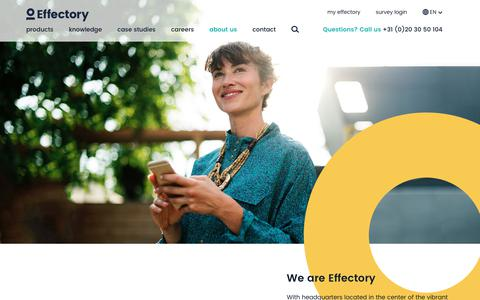 Screenshot of About Page effectory.com - About us - captured July 18, 2018