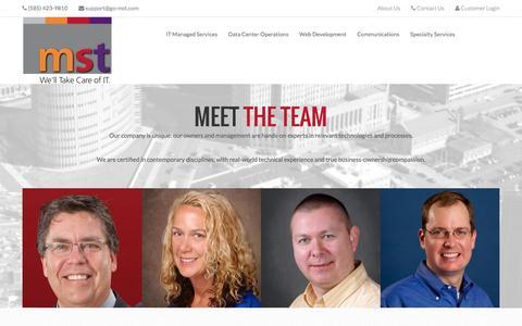 Screenshot of About Page go-mst.com - Managed Services Team - captured Nov. 19, 2016