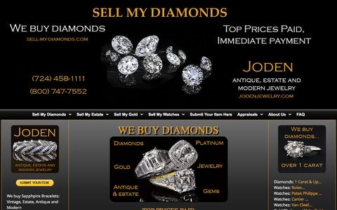 Screenshot of Home Page sell-my-diamonds.com - Sell My Diamonds – We Buy Diamonds - captured Nov. 19, 2017