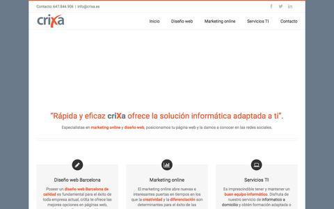 Screenshot of Home Page crixa.es - Diseño web Barcelona | diseño de páginas web Barcelona - captured Feb. 2, 2016