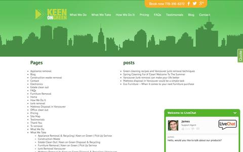 Screenshot of Site Map Page keenongreenrecycle.com - Sitemap   Keen On Green Disposal & Recycling - captured Oct. 17, 2017
