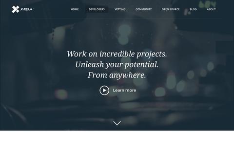 Screenshot of Signup Page x-team.com - Join X-Team as a Developer - captured Oct. 25, 2015