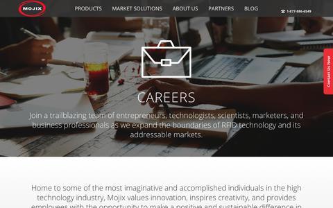 Screenshot of Jobs Page mojix.com - Careers - Mojix Inc. - captured July 25, 2017