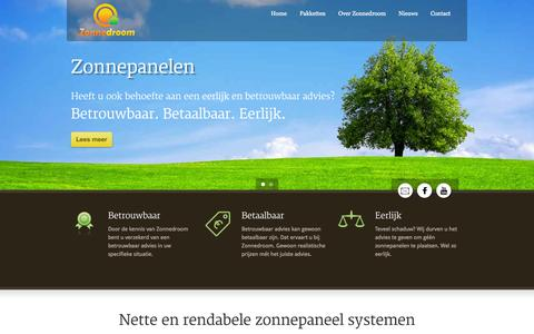 Screenshot of Home Page zonnedroom.nl - Zonnedroom – Zonnepanelen  Home » Zonnedroom - Zonnepanelen - captured Oct. 9, 2014