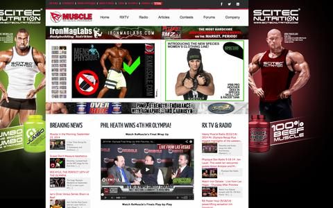 Screenshot of Home Page Site Map Page rxmuscle.com - Rx Muscle - The Truth in Bodybuilding - captured Sept. 23, 2014