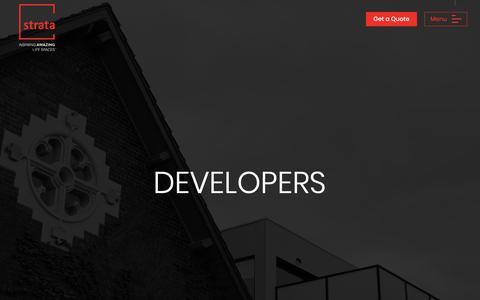 Screenshot of Developers Page strataplan.com.au - Developers - Strata Plan Service - captured Oct. 20, 2018