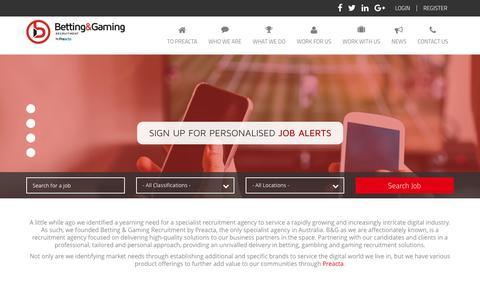 Screenshot of Home Page bgrecruitment.com - Betting Gaming Recruitment - captured Nov. 22, 2016