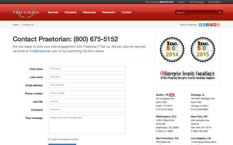 Praetorian | Contact Us