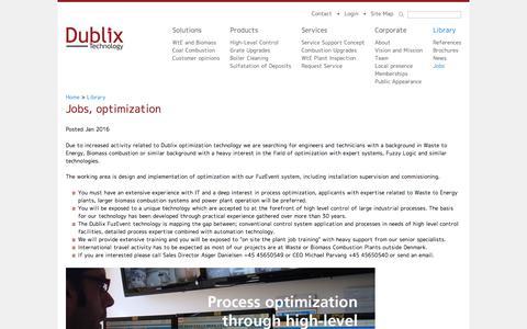 Screenshot of Jobs Page dublix.com - Jobs, optimization   Dublix Technology ApS - captured Oct. 13, 2017