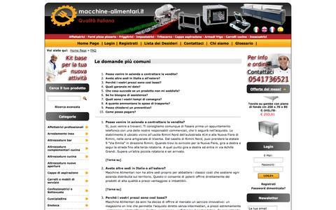 Screenshot of FAQ Page macchine-alimentari.it - Macchine Alimentari - captured Oct. 3, 2014