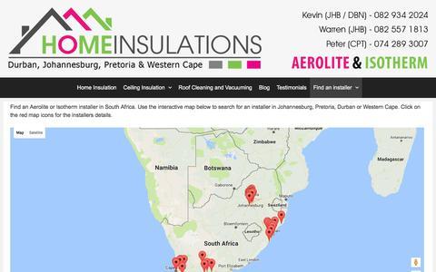 Screenshot of Contact Page homeinsulations.co.za - Find an installer | Durban, Johannesburg, Pretoria, Cape Town - captured Dec. 4, 2016