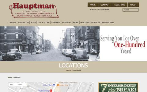 Screenshot of Locations Page hauptmanfloor.com - Find everything you need at one of our nearby stores. - captured July 23, 2017