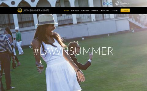 Screenshot of Home Page lawnsummernights.com - Lawn Summer Nights - A unique lawn bowling fundraiser benefitting Cystic Fibrosis Canada. - captured Sept. 29, 2014