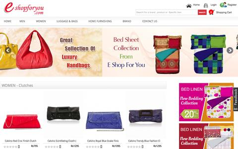 Screenshot of Home Page eshopforyou.com - Online Shopping in india | watches | Bags | sunglasses | wallets | Men Watches| Woman Watches| Men Belts | Man Sunglasses | Woman Sunglasses| eshopforyou.com - captured Oct. 9, 2015