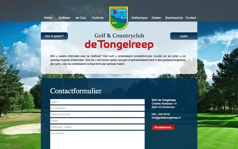 Screenshot of Contact Page golfdetongelreep.nl - Contact | Golf & Countryclub De Tongelreep - captured Oct. 11, 2017