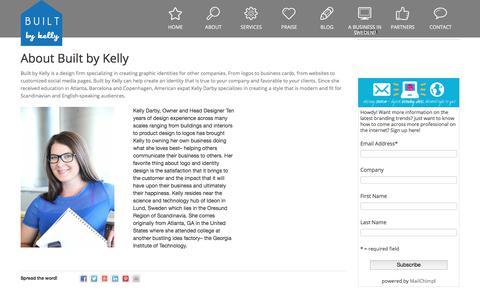 Screenshot of About Page builtbykelly.com - About - captured Aug. 4, 2018