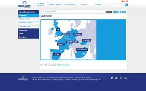 Screenshot of Locations Page computacenter.com - Locations | Computacenter UK LTD - captured Oct. 2, 2014
