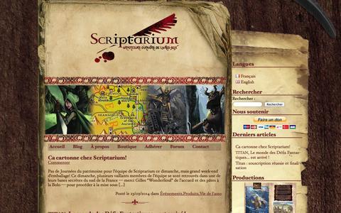 Screenshot of Blog scriptarium.fr - Scriptarium | Blog - captured Sept. 30, 2014