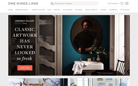 Screenshot of Login Page onekingslane.com - Furniture, Sofas, Rugs, Bedding, Home Decor   One Kings Lane - captured Jan. 5, 2016