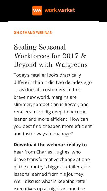 Scaling Seasonal Workforces for 2017 & Beyond with Walgreens