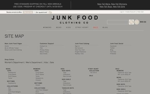 High traffic Fashion Site Map Pages | Website Inspiration