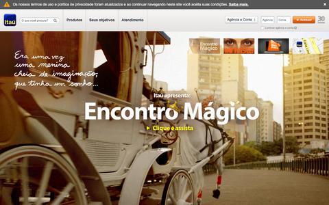 Screenshot of Home Page itau.com.br - Banco Itaœ - Feito Para Voc - captured Dec. 2, 2015