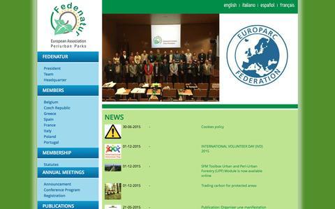 Screenshot of Press Page fedenatur.org - news - Fedenatur - captured Aug. 3, 2016