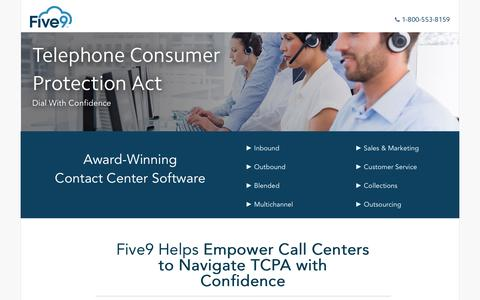 Screenshot of Landing Page five9.com - Contact Center Software | Five9 - captured Sept. 20, 2016